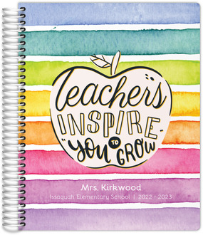 Rainbow Inspire You To Grow Teacher Planner