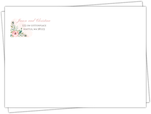 Blush Floral Arrangement Custom Envelope