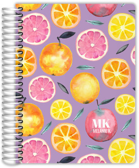 Fresh Citrus Watercolor Pattern Daily Planner