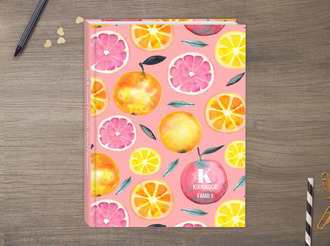 Fresh Citrus Watercolor Pattern Meal Planner