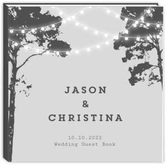 Tree Lights Wedding Guest Book