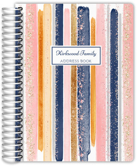 Faux Glitter Watercolor Address Book