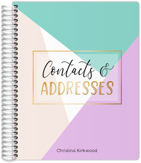Script & Faux Gold Lettering Address Book