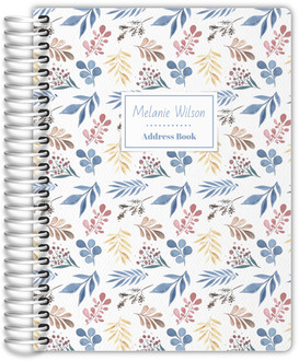 Whimsical Watercolor Foliage Address Book
