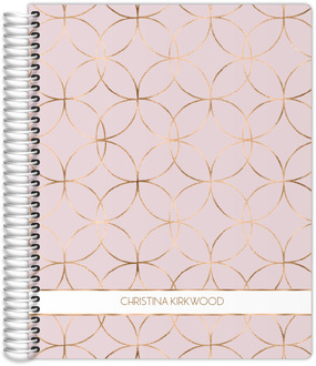 Faux Rose Gold Circles Address Book