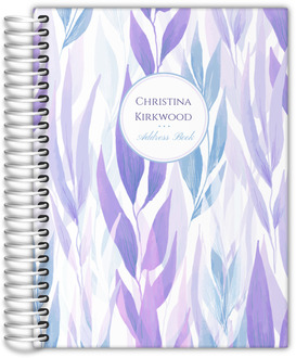 Lavender Leaves Pattern Address Book