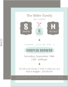 Couples baby shower invitations coed baby shower invitations framed monograms couples baby shower invitation filmwisefo