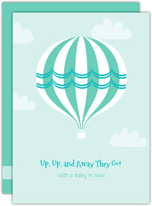 Up Up and Away Couples Baby Shower Invitation