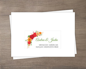 Modern Colorful Flowers Mailing Address Envelope