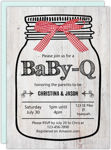 Mint Monkey Baby Shower Invitation