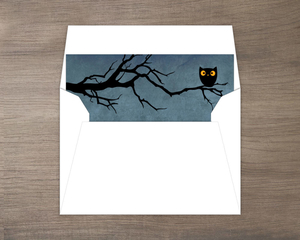 Guess Whooo Midnight Owl  set  Halloween Envelope Liner