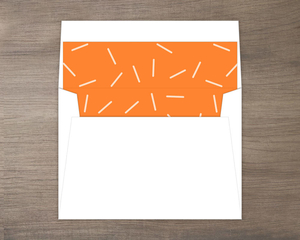 Orange Confetti Envelope Liner