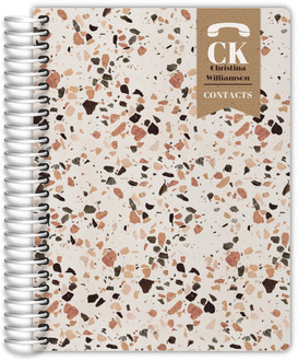 Crushed Quartz Pattern Address Book