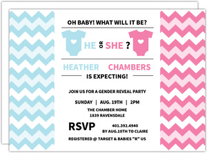 Pink And Blue Baby Shower Invitation