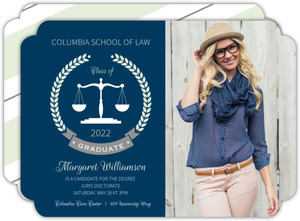 Law school graduation invitations law school graduation announcements mint formal laurel wreath law school graduation invitation filmwisefo