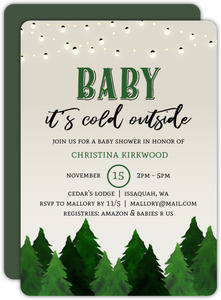 Rustic Outdoor Baby Shower Invitation