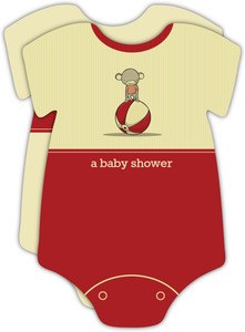 Sock Monkey Baby Shower Invitation - 3170