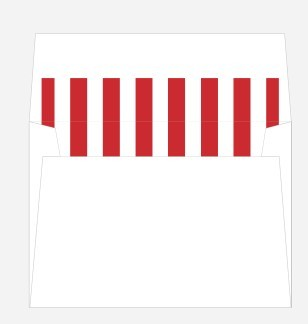 Red and White Striped Envelope Liner