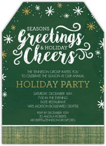 Modern Seasons Greetings Online Holiday Party Invitation