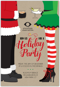Santa & Elf Online Holiday Party Invitation