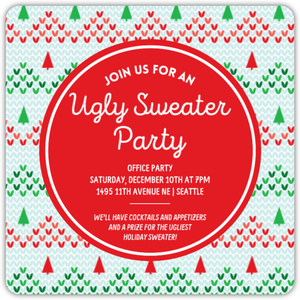 Knitted Ugly Sweater Online Holiday Party Invitation