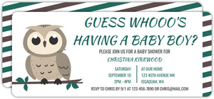 Owl On Branch Owl Baby Shower Invitation
