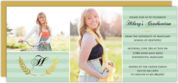 Pretty in Pink Gold Foil Dental School Graduation Invitation