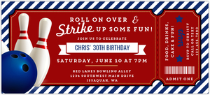 Strike Up Fun Bowling Birthday Online Invitation