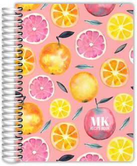 Fresh Citrus Watercolor Pattern Recipe Journal