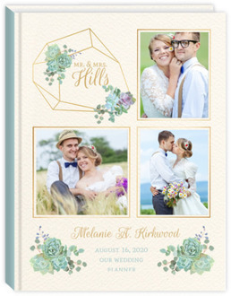 Delicate Succulent Photo Decor Wedding Journal 8.5x11