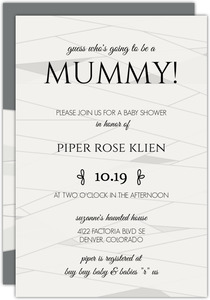 Mummy Wrap Baby Shower Invitation