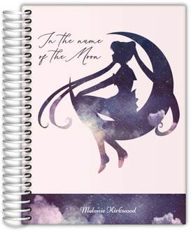 Watercolor Moon Silhouette Quote Custom Journal