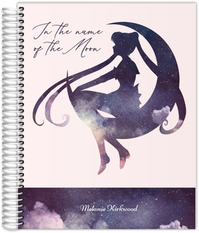Watercolor Moon Silhouette Quote Custom Journal 8.5x11