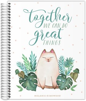 Cat & Plants Custom Journal 8.5x11
