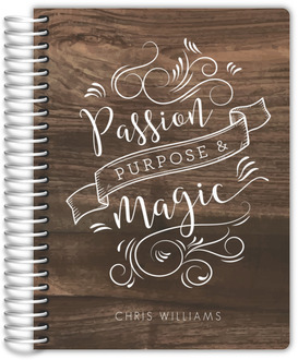 Passion Purpose Magic Custom Journal 6x8