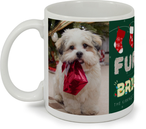 Furry Family Holiday Photo Coffee Mug
