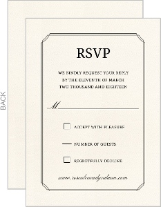 Beautiful Formal Double Frame Wedding Response Card
