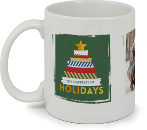 Washi Tape Tree Holiday Photo Mug