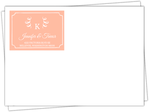 Taupe And Peach Feather Envelopes