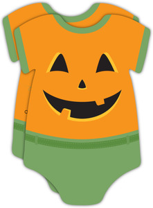 Jack O' Lantern Onesie Baby Shower Invitation