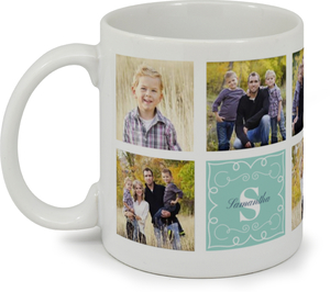 Whimsical Frame Photo Grid Custom Mug