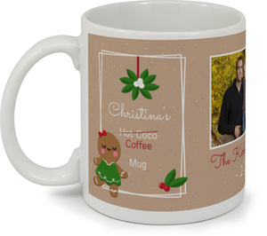 Cute Gingerbread Custom Mug