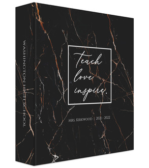 Faux Copper Black Marble Teacher Binder 6x8