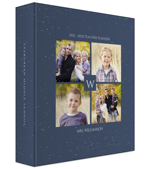 Quad Photo Initial Teacher Binder 6x8