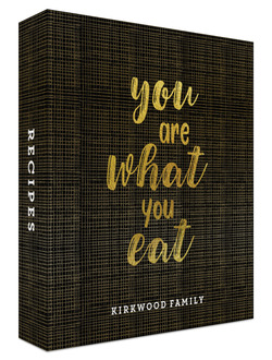 You Are What You Eat Recipe Binder 8.5x11