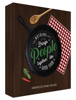 Cast Iron Quote Recipe Binder 8.5x11
