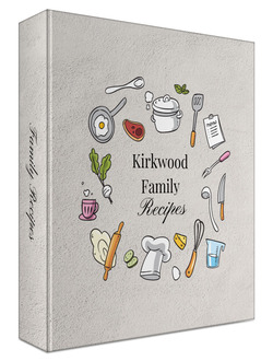 Kitchen Doodles Wreath Recipe Binder 8.5x11