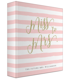 Faux Glitter Future Mrs Wedding Binder