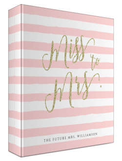 Faux Glitter Future Mrs Wedding Binder 8.5x11
