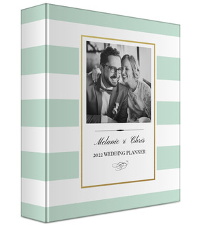 Classic Mint and Gold Frame Wedding Binder